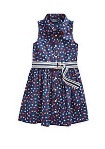 79b0cca171c94 ... Pants · Ralph Lauren Childrenswear Toddler Girls Flag Belted Cotton  Shirtdress