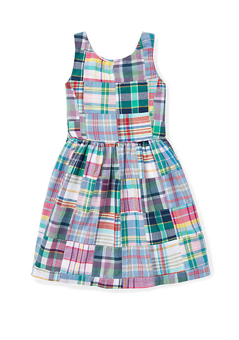 Ralph Lauren Childrenswear Toddler Girls Patchwork Cotton Madras