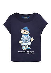 Ralph Lauren Childrenswear Toddler Girls Marseilles Bear Cotton Tee