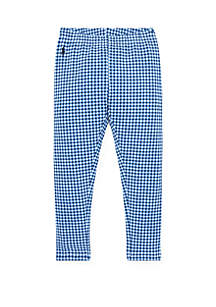 Ralph Lauren Childrenswear Toddler Girls Gingham Stretch Legging