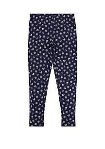 Ralph Lauren Childrenswear Toddler Girls Anchor Stretch Cotton Leggings