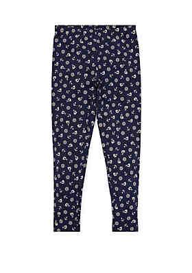 c69c8b3d9 Ralph Lauren Childrenswear Toddler Girls Anchor Stretch Cotton Leggings ...