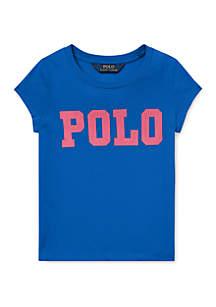 Ralph Lauren Childrenswear Toddler Girls Cotton Jersey Graphic T Shirt