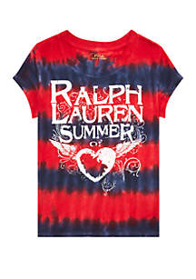 0dcd43d6 ... Ralph Lauren Childrenswear Toddler Girls Tie Dye Cotton Jersey Tee