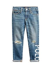 Ralph Lauren Childrenswear Toddler Girls Polo Astor Slim Boyfriend Jeans