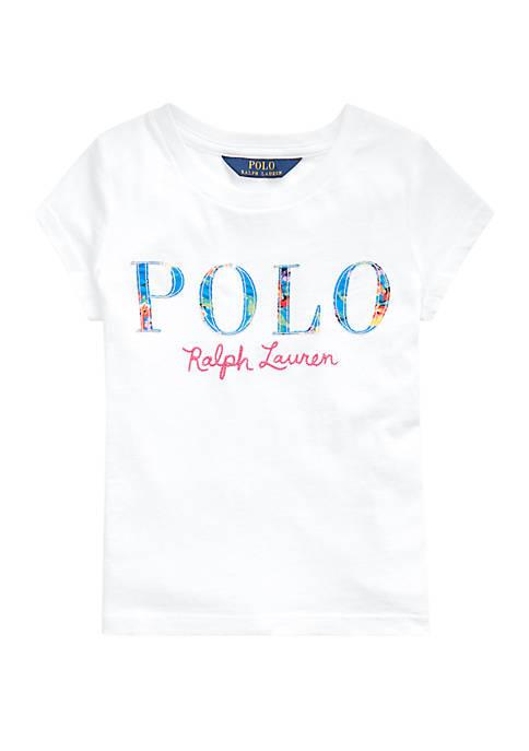 Ralph Lauren Childrenswear Toddler Girls Floral Cotton Jersey