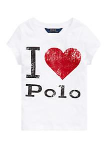 Ralph Lauren Childrenswear Toddler Girls Cotton Jersey Graphic T-Shirt