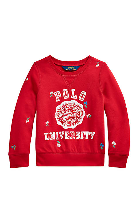 Toddler Girls French Terry Graphic Pullover