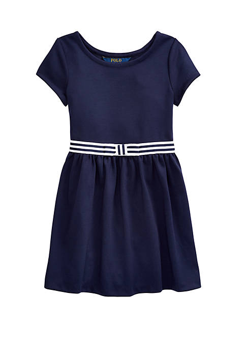 Ralph Lauren Childrenswear Toddler Girls Bow Stretch Ponte