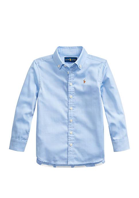 Ralph Lauren Childrenswear Toddler Girls Pinpoint Cotton Oxford