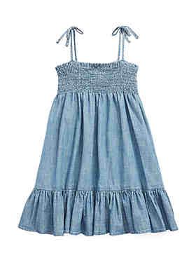008316a9ba06 Ralph Lauren Childrenswear Toddler Girls Cotton Chambray Dress ...