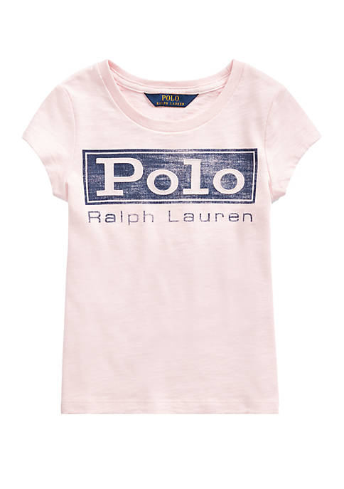 Ralph Lauren Childrenswear Toddler Girls Logo Cotton Jersey