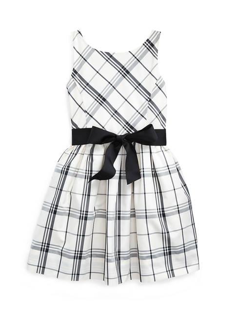 Toddler Girls Plaid Taffeta Dress