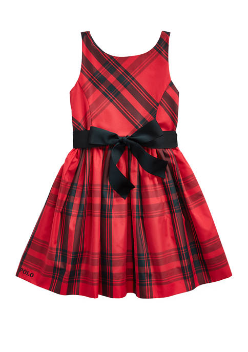 Toddler Girls Plaid Taffeta Dress