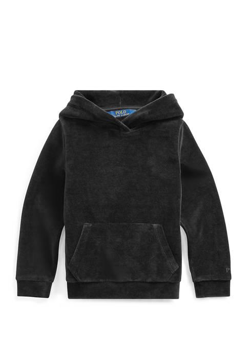 Ralph Lauren Childrenswear Toddler Girls Velour Cotton-Blend