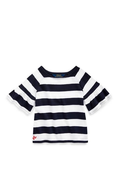 Ralph Lauren Childrenswear Toddler Girls Ruffled Cotton Jersey