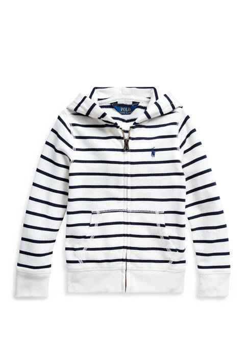 Toddler Girls Striped Cotton-Blend-Terry Hoodie