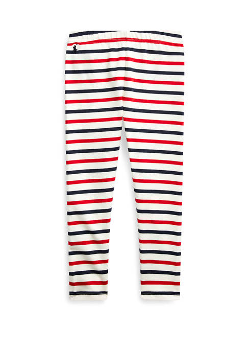 Toddler Girls Striped Stretch Cotton Jersey Legging
