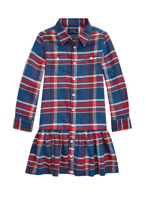 Ralph Lauren Childrenswear Toddler Girls Plaid Cotton Twill