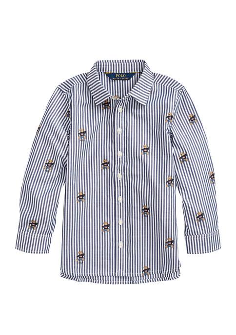 Ralph Lauren Childrenswear Toddler Girls Sweater Bear Cotton
