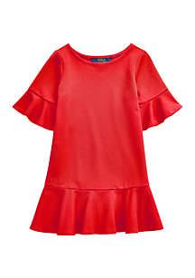 Ralph Lauren Childrenswear Toddler Girls Polo Ponte Drop Waist Dress