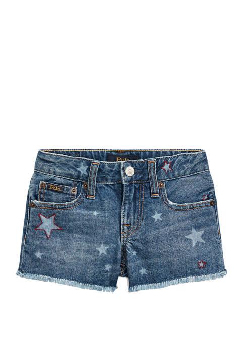 Ralph Lauren Childrenswear Toddler Girls Star Cotton Denim