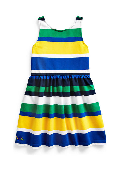 Ralph Lauren Childrenswear Toddler Girls Striped Stretch Jersey