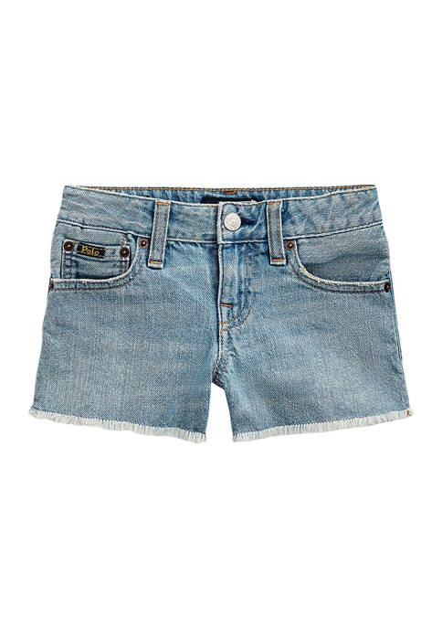 Ralph Lauren Childrenswear Toddler Girls Frayed Cotton Denim
