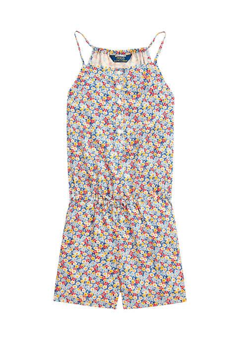 Ralph Lauren Childrenswear Toddler Girls Floral Poplin Romper