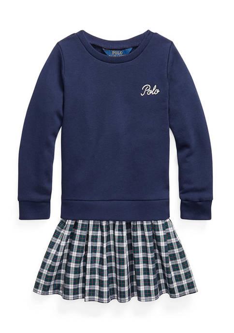 Ralph Lauren Childrenswear Toddler Girls Plaid-Skirt Sweatshirt