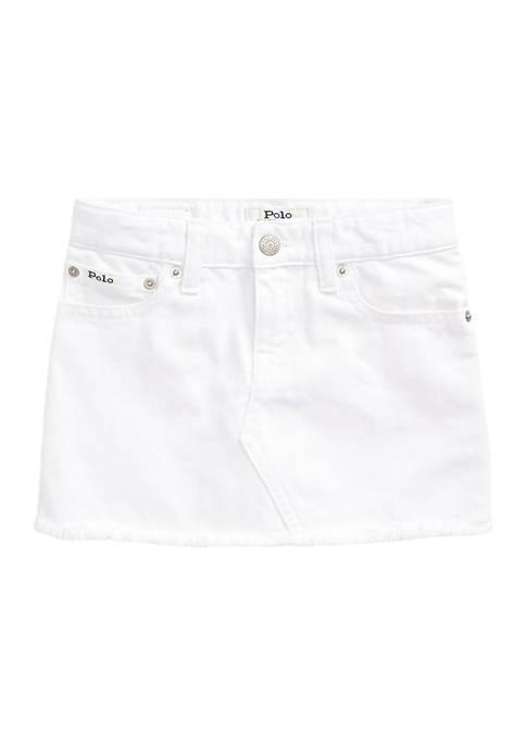 Ralph Lauren Childrenswear Toddler Girls Denim 5-Pocket Skirt