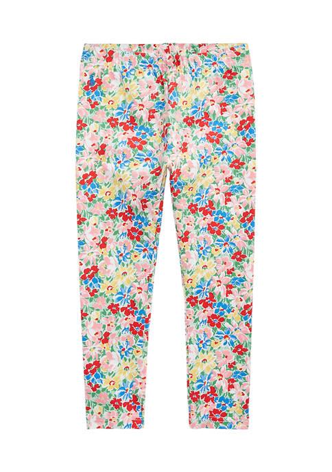 Ralph Lauren Childrenswear Toddler Girls Floral Stretch Jersey