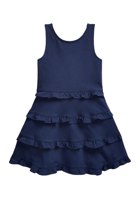Toddler Girls Ruffled Cotton Jersey Dress