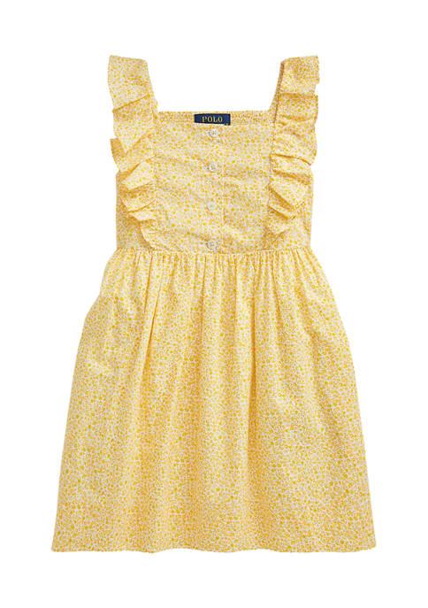 Ralph Lauren Childrenswear Toddler Girls Floral Cotton Poplin