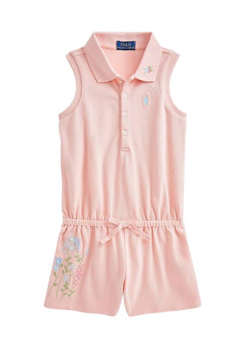 Ralph Lauren Childrenswear Toddler Girls Floral Cotton Mesh
