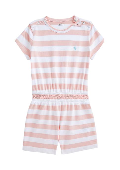 Ralph Lauren Childrenswear Toddler Girls Striped Cotton Jersey