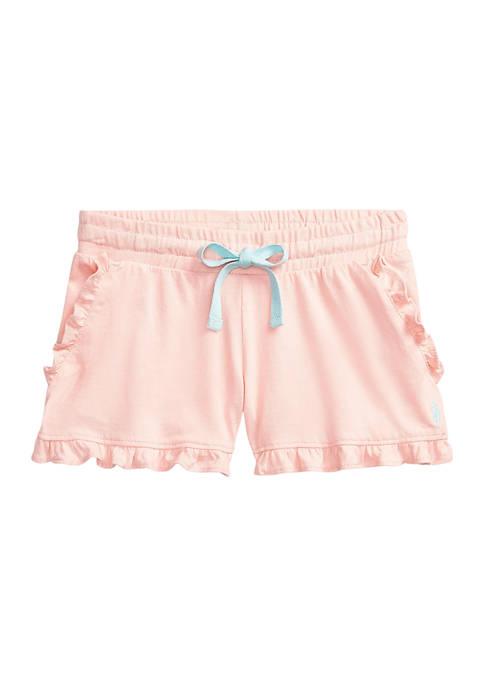 Toddler Girls Ruffled Cotton Jersey Shorts