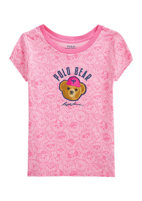 Toddler Girls Polo Bear Cotton Jersey T-Shirt