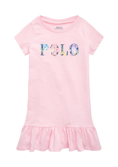 Ralph Lauren Childrenswear Toddler Girls Floral-Logo Cotton