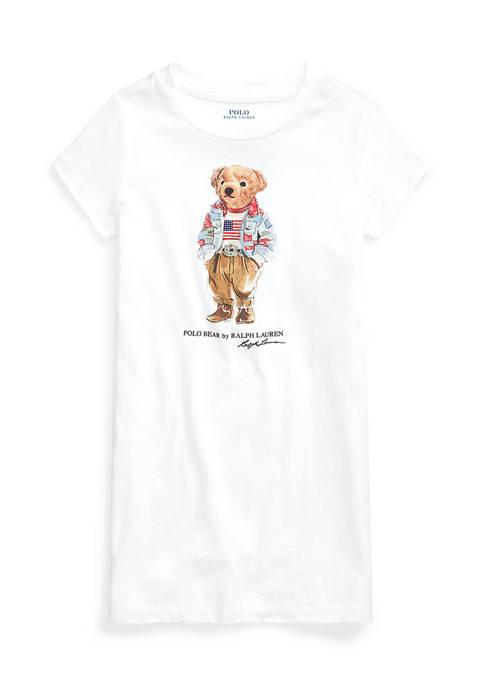 Toddler Girls Polo Bear Cotton Jersey Tee Dress