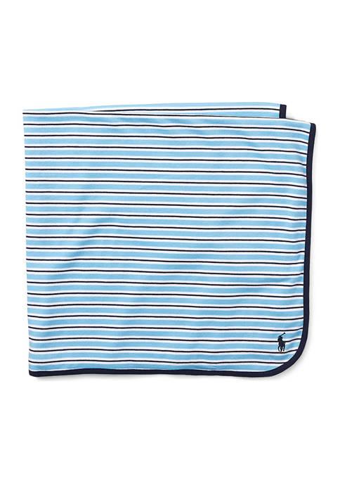 Ralph Lauren Childrenswear Striped Cotton Blanket