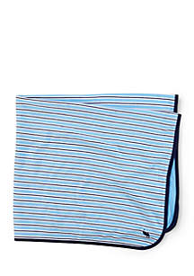 Preppy Rugby-Striped Blanket