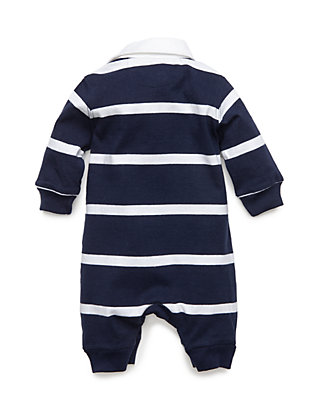 bce4f8faf ... Ralph Lauren Childrenswear Baby Boys Rugby Stripe Coverall