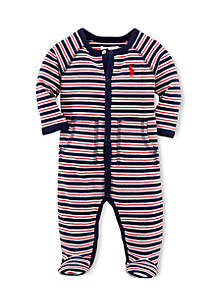 Long Sleeve Striped Coverall