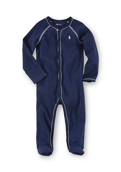 Ralph Lauren Childrenswear Cotton Footed Coverall
