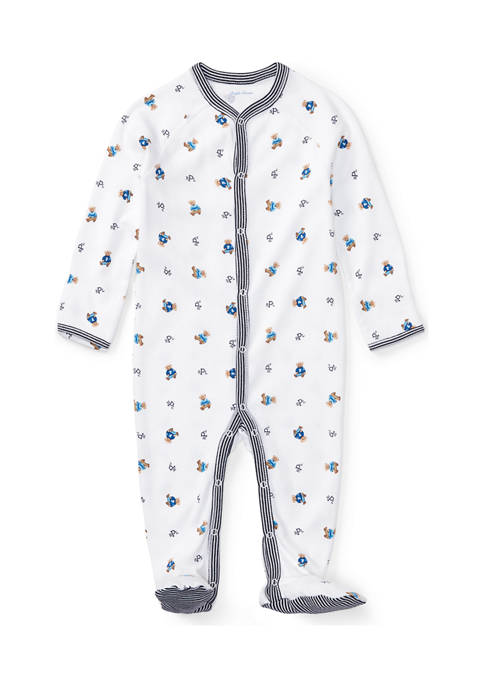 Bear Print Cotton Coverall