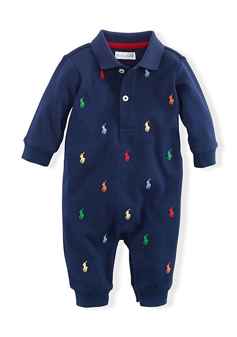 Ralph Lauren Childrenswear Polo Pony Print Coverall