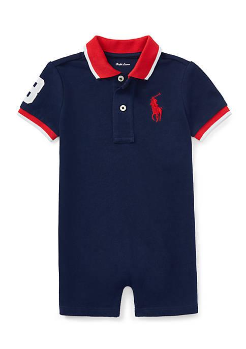 Ralph Lauren Childrenswear Cotton Mesh Polo Shortall