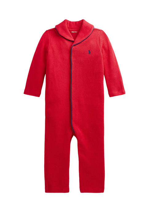 Ralph Lauren Childrenswear Baby Boys French-Rib Cotton Coverall