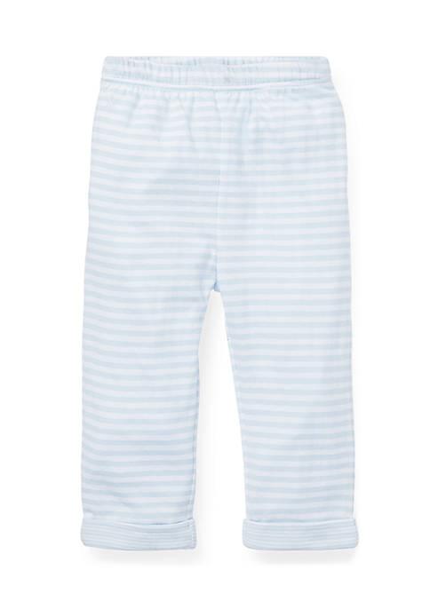 Baby Boys Striped Jacquard Pull On Pants